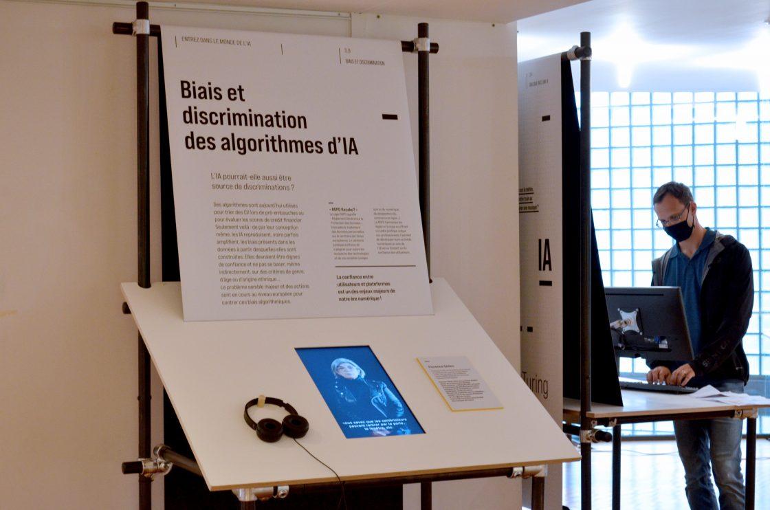 Pôle manipes -module Biais et discrimination de l'exposition Entrez dans le monde de l'IA
